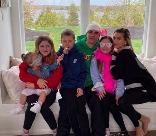 Justin Bieber très heureux d'avoir une très grande famille !