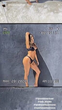 Khloé Kardashian dévoile son shooting photo sexy en bikini noir 640
