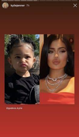 Kylie Jenner a les mêmes expressions que sa fille Stormi 640