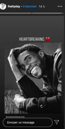 "Laeticia Hallyday a le ""coeur brisé"" après la mort de Chadwick Boseman !"