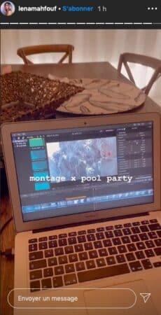 Lena Mahfouf se met enfin à monter sa vidéo x pool party