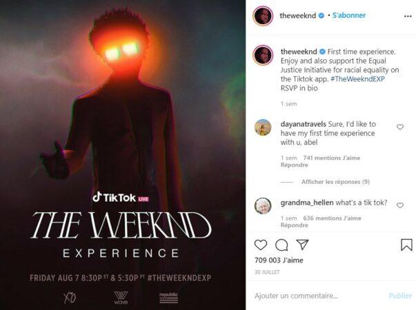 Live Tiktok: The Weeknd tease un nouveau morceau à ses fans !