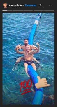 M Pokora profite de ses vacances avec le footballeur Olivier Giroud !