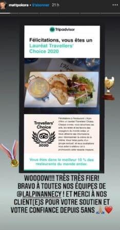 M Pokora: son restaurant est l'un des mieux notés au monde !