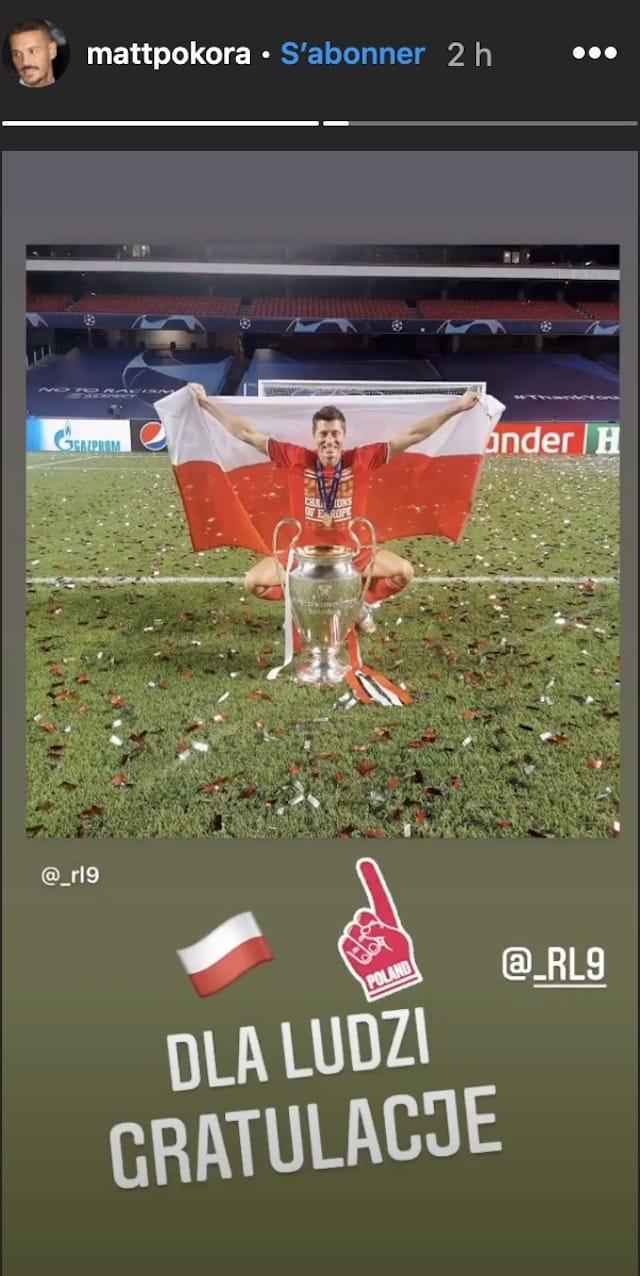 M Pokora soutient le joueur polonais Robert Lewandowski !