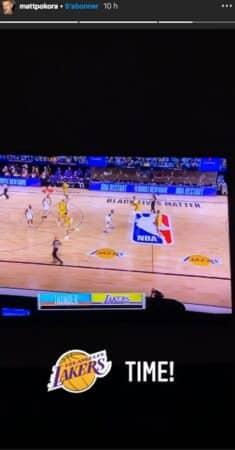 M Pokora suit attentivement les matchs des Lakers !