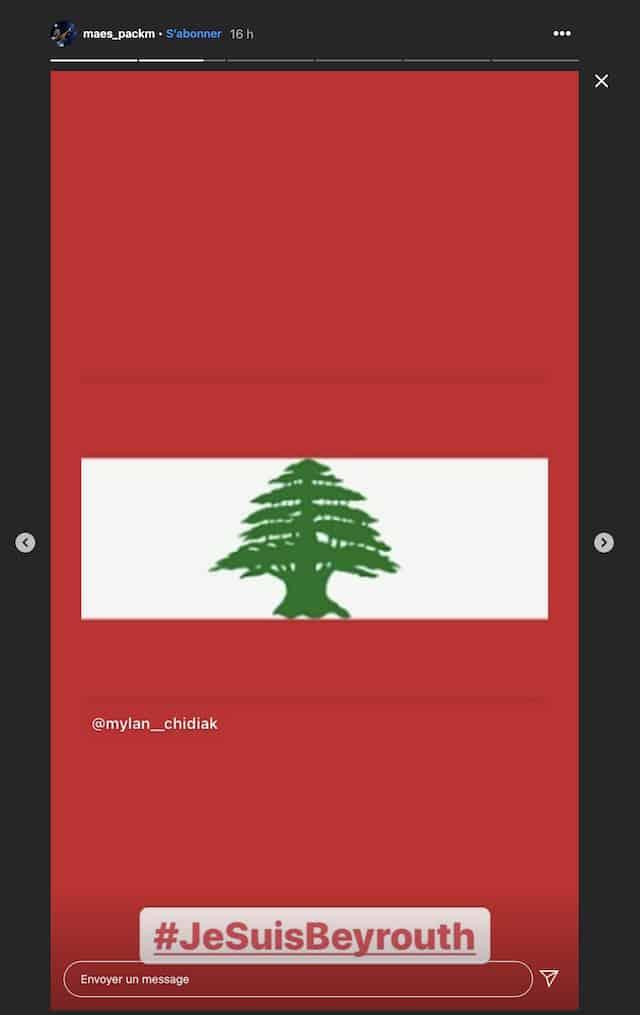 Maes rend hommage aux libanais sur Instagram !