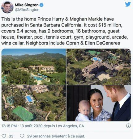 Meghan Markle et le prince Harry: qui sont leurs célèbres voisins ?