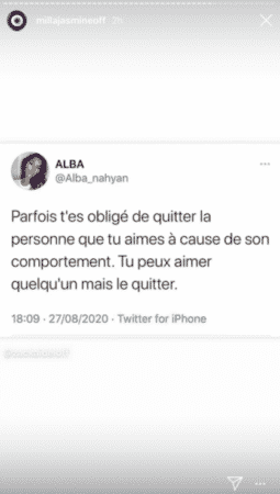 Milla Jasmine Les Marseillais toujours affectée par sa rupture avec Mujdat 29082020-