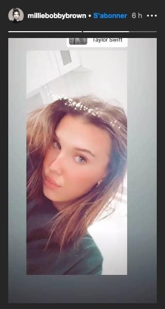 Millie Bobby Brown fait un joli selfie sur un morceau de Taylor Swift !