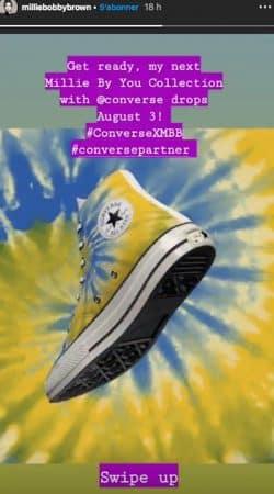 Millie Bobby Brown sort sa collection de chaussures avec Converse !