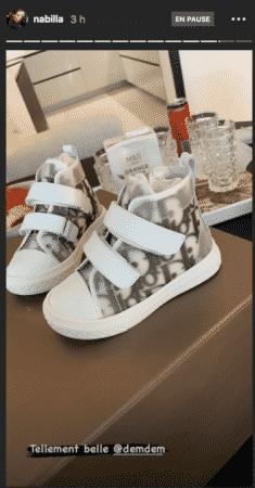 Nabilla craque pour des vêtements de luxe pour son fils Milann 25082020-