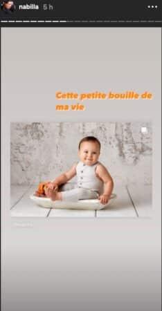 """Nabilla dévoile un cliché à croquer de Milann """"Cette petite bouille"""" !"""
