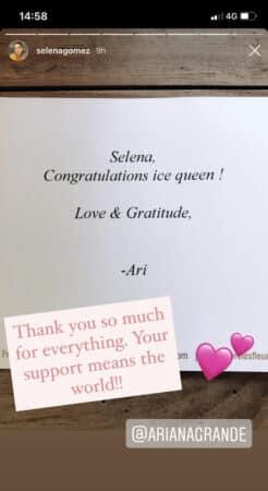 Selena Gomez: Ariana Grande lui fait une belle surprise après la sortie de son clip !
