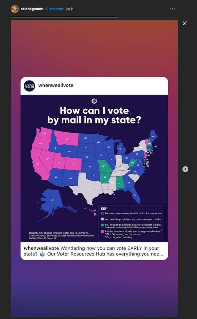 Selena Gomez incite sa communauté à voter aux présidentielles !