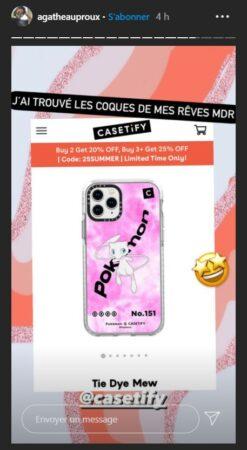 Agathe Auproux craque pour une coque de smartphone Pokemon !