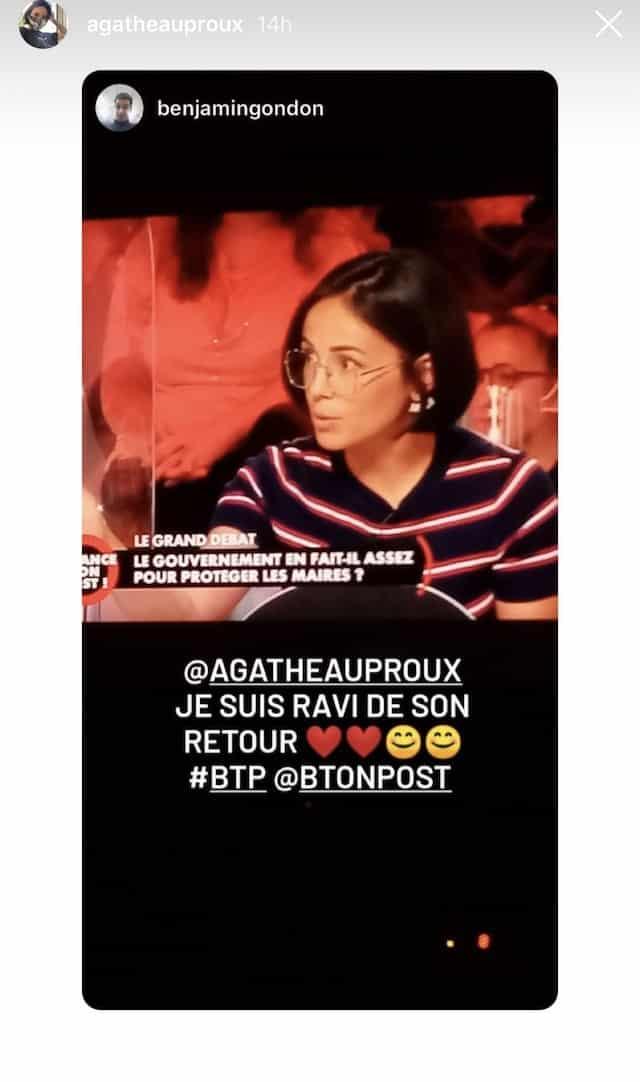 Agathe Auproux: ses fans ravis de la retrouver dans BTP !