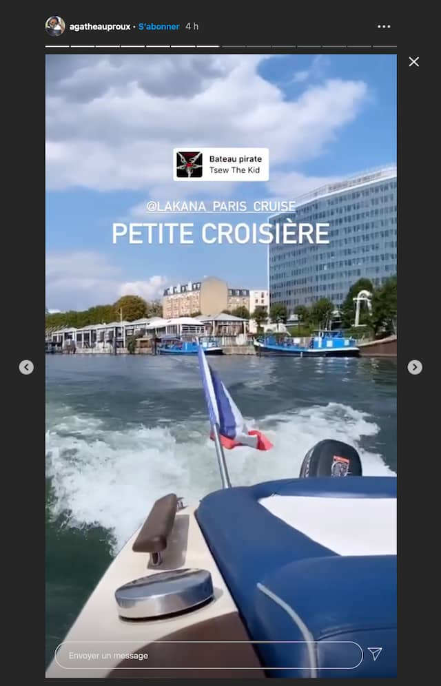 Agathe Auproux s'offre une incroyable croisière sur la Seine !