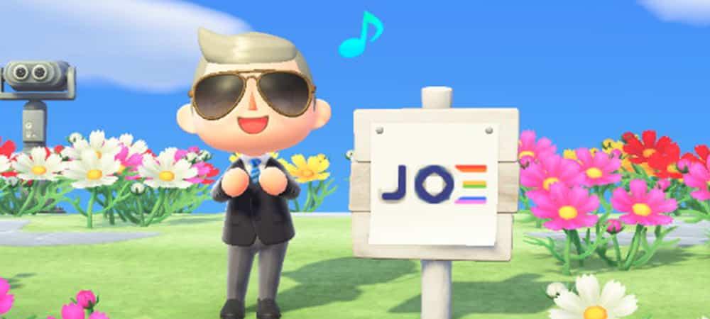 Animal Crossing: Joe Biden fait campagne sur le jeu vidéo !