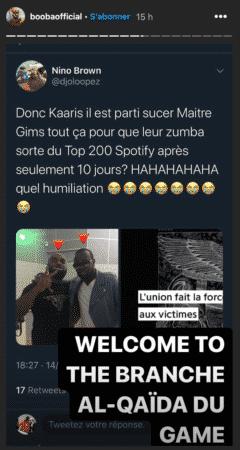 """Booba tacle Gims et Kaaris sur Instagram """"Quelle humiliation"""" !"""
