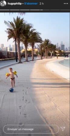 Caroline Receveur: son petit Marlon s'éclate sur la plage à Dubaï !