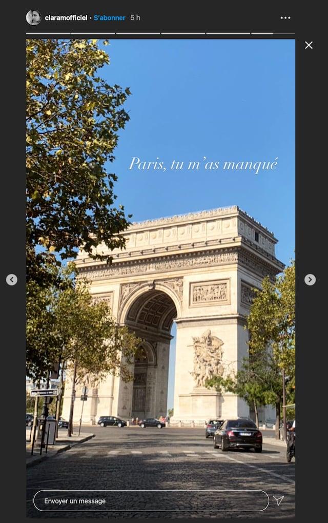 Clara Morgane est de retour à Paris après ses vacances dans le Sud !