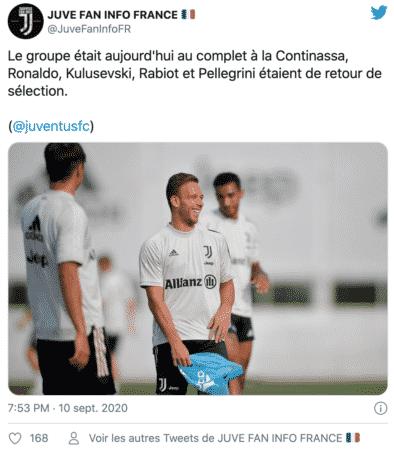 Cristiano Ronaldo adoube un nouveau coéquipier de la Juventus !