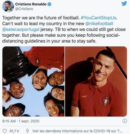 Cristiano Ronaldo et Nike dévoilent les nouveaux maillots du Portugal !
