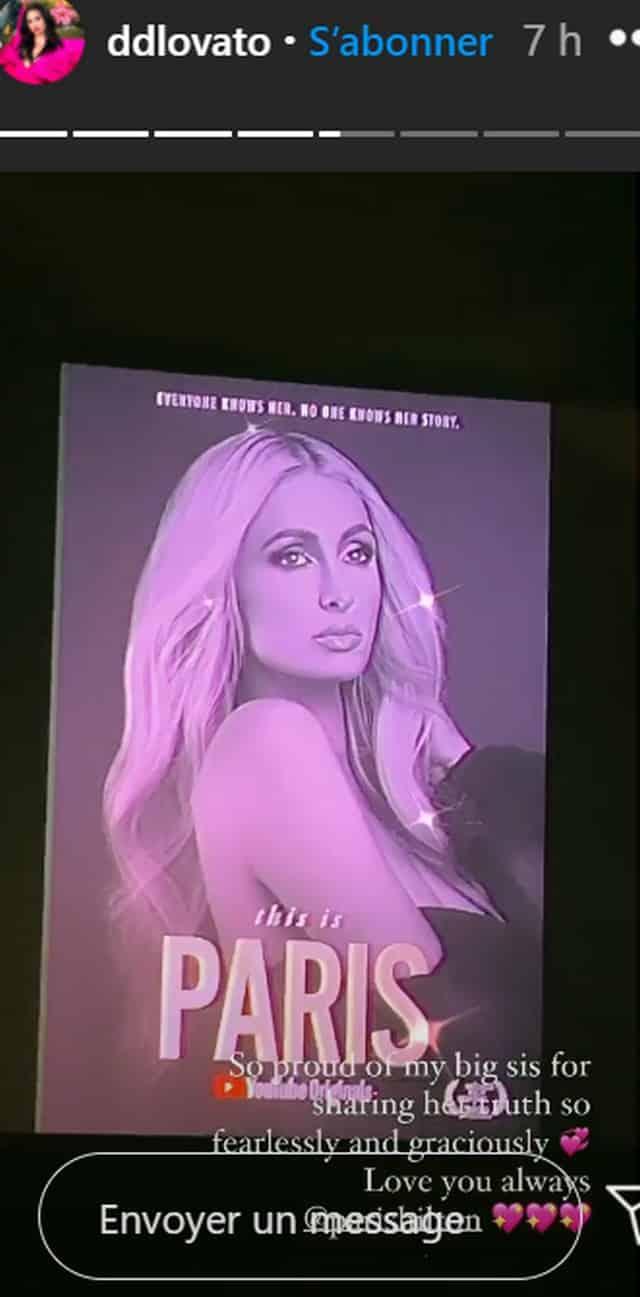 Demi Lovato est très fière de son amie Paris Hilton !