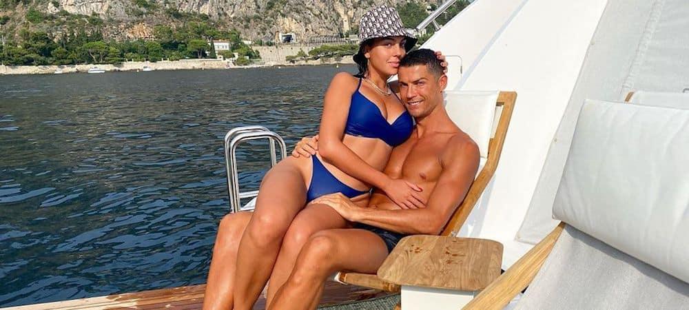 Georgina Rodríguez en maillot de bain avec Cristiano Ronaldo !