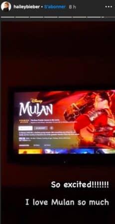 Hailey Baldwin est ultra fan du dessin-animé Mulan !
