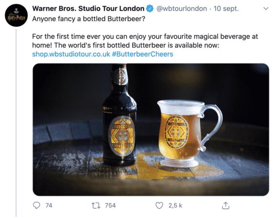 Harry Potter: la bière au beurre est désormais en vente !