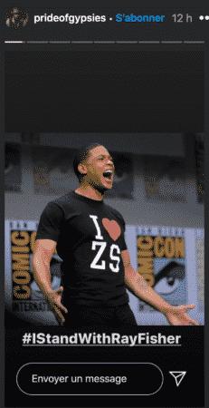 Jason Momoa apporte son soutien à l'acteur Ray Fisher (Justice League) !