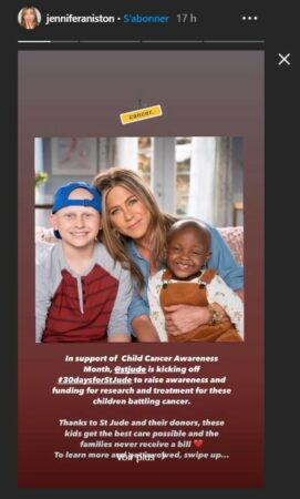 Jennifer Aniston son engagement sans faille pour aider les enfants malades