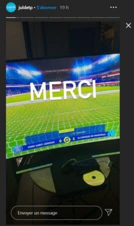 JuL célèbre la victoire de l'OM face au PSG sur Instagram !