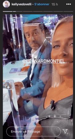 Kelly Vedovelli et Bernard Montiel