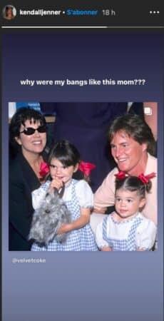 Kendall Jenner dévoile une belle photo de famille quand elle était enfant !