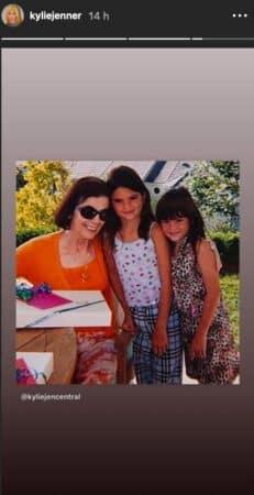 Kendall Jenner dévoile une photo d'elle enfant avec sa grand-mère !