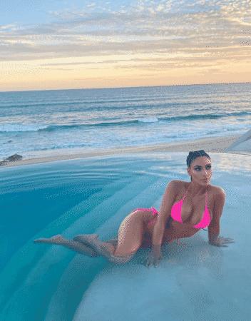 Kim Kardashian en vacances