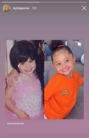 Kylie Jenner sa fille Stormi est son sosie au même âge !