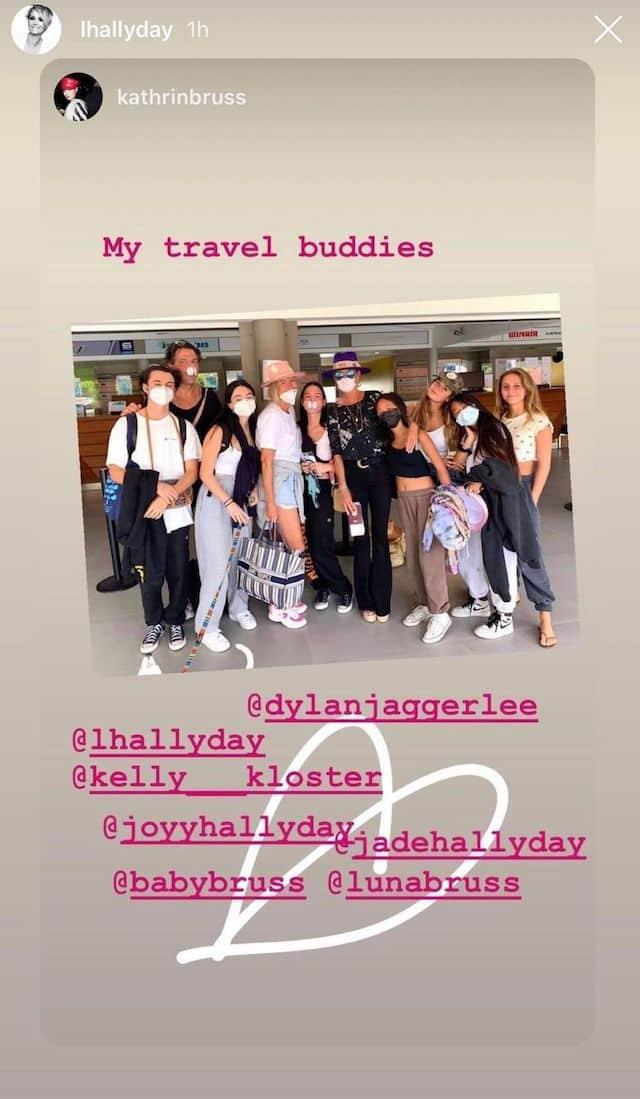 Laeticia Hallyday s'affiche avec tous ses amis de vacances !