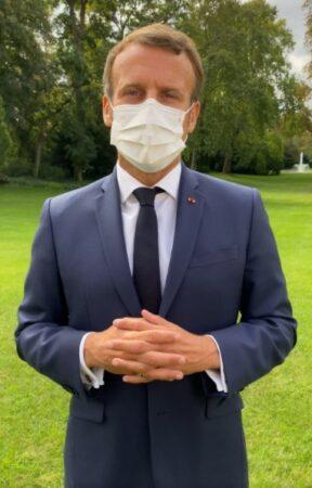Rentrée 2020 Emmanuel Macron Président fait une grosse faute de français