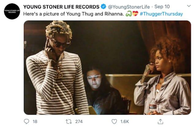 Rihanna et Young Thug réunis pour préparer un projet secret