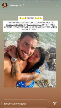 Sarah Fraisou et Ahmed au coeur d'un scandale