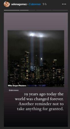 Selena Gomez encore choquée par les attentats du 11 septembre 2001
