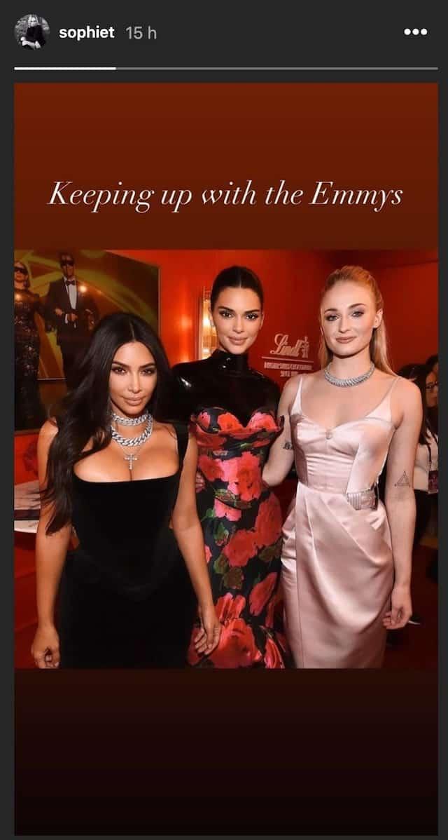 Sophie Turner s'affiche ultra classe avec Kim Kardashian et Kendall Jenner !