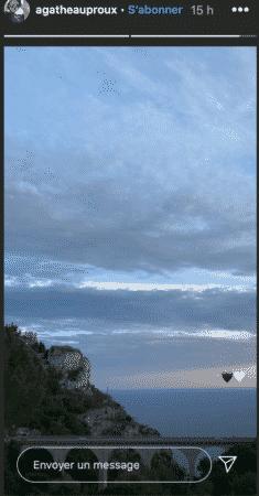 Un début de coucher de soleil, photographié par Agathe Auproux