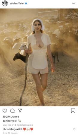Zahia Dehar s'affiche en fermière sexy au milieu des moutons sur Instagram !