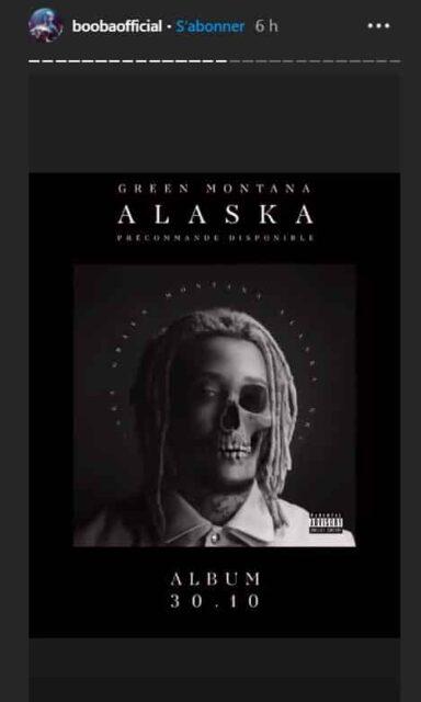 Booba annonce la sortie de l'album de Green Montana sur Instagram
