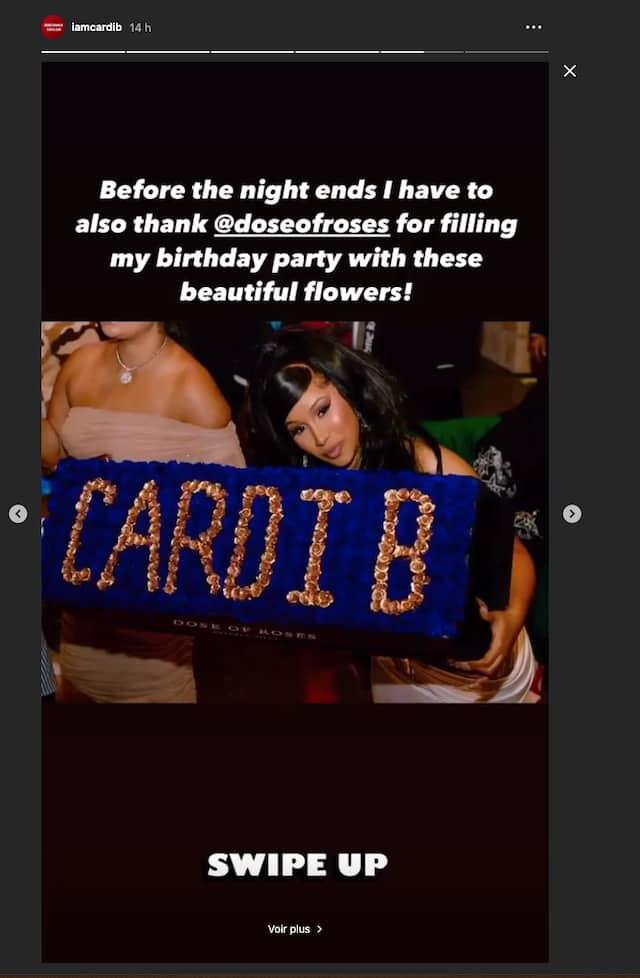 Cardi B partage encore des photos de sa chaude soirée d'anniversaire !